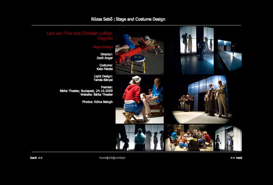 Rozsa Sebo Stagedesign Webseite