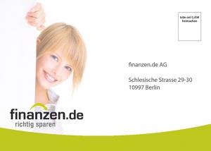 Finanzen.de Postkarte Neukundengewinnung