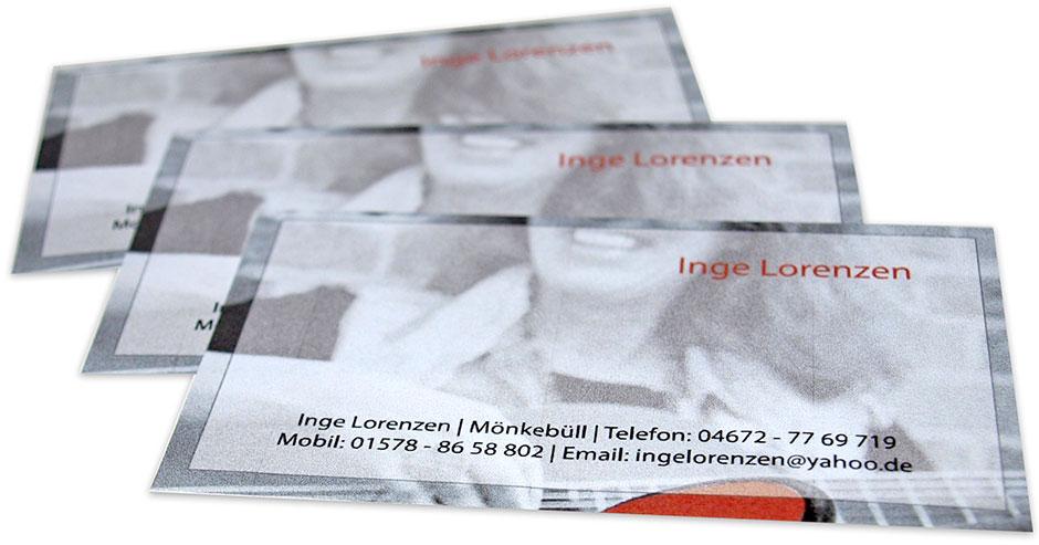 Visitenkarten Inge Lorenzen