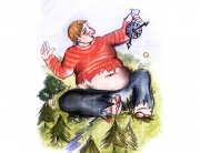 Kinderbuchillustration Riese