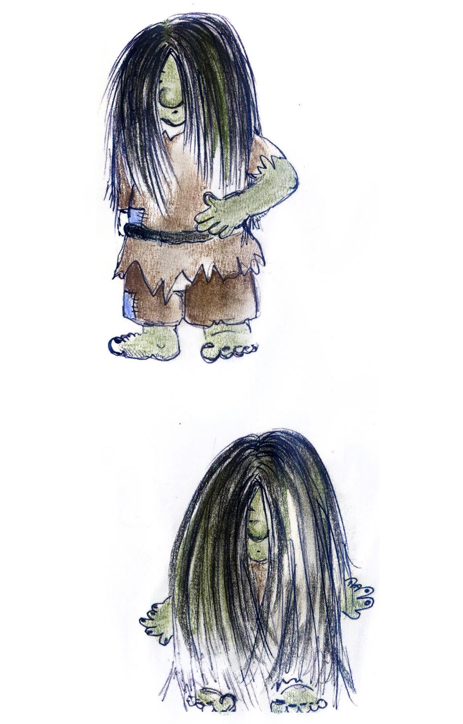 Kinderbuchillustration Troll
