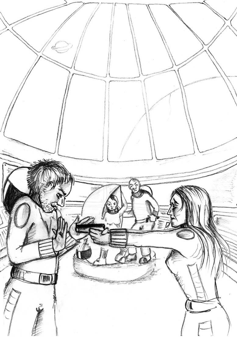 Illustration Hörspiel, Skizze 02